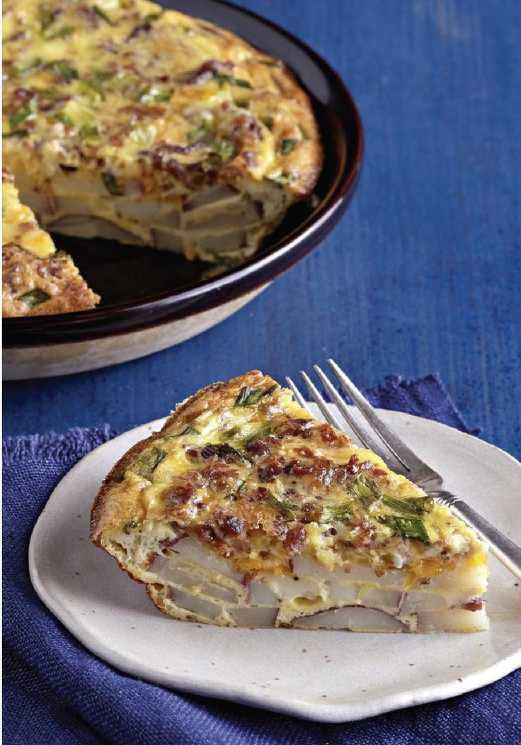 Cheddar, Bacon & Potato Frittata -- When it comes to easy, family-pleasing recipes, it's hard to beat a frittata! This one is made with new red potatoes, shredded cheddar and bacon bits.