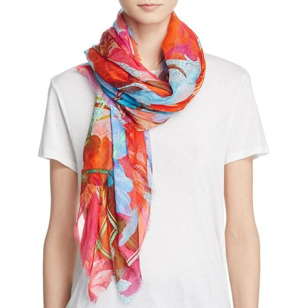 Echo Botanica Wrap Scarf ($105) ❤ liked on Polyvore featuring accessories, scarves, wrap scarves, wrap shawl and echo scarves