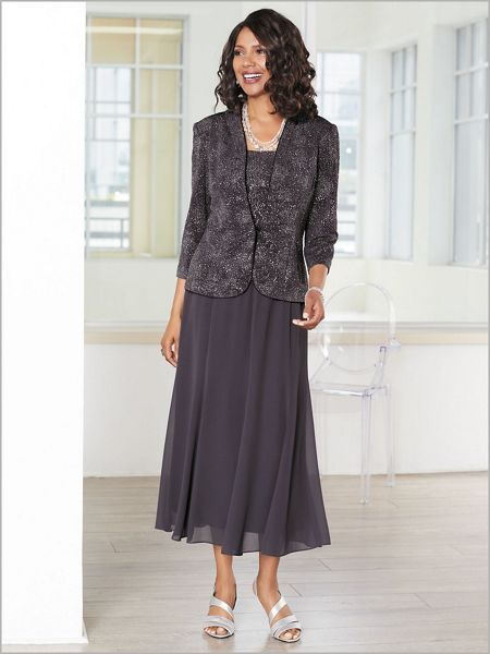 f4fe958d151 Find this soft spring jacquard knit jacket dress by Alex Evenings at  Draper s   Damon s. Incredibly illuminating
