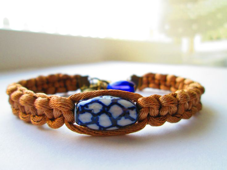 Bracelet idea with a cute bead by Polish pottery