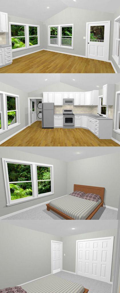 16x32 Tiny House -- #16X32H10 -- 647 sq ft - Excellent Floor Plans