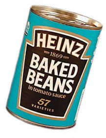 i can't stand baked beans, but every time I see these in the British aisle, I want to buy them just for that adorable can.