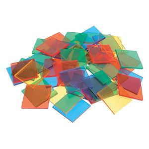 Plastic Mosaic Tiles Square 2cm
