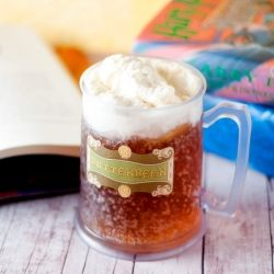 Homemade butterbeer: cream soda, butter extract, light rum, and whip cream on top (with a little more butter extract).