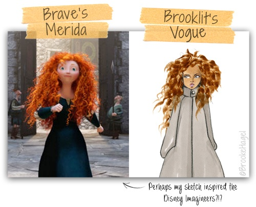 Was Brave's Princess Merida inspired by my Vogue sketch? ;)