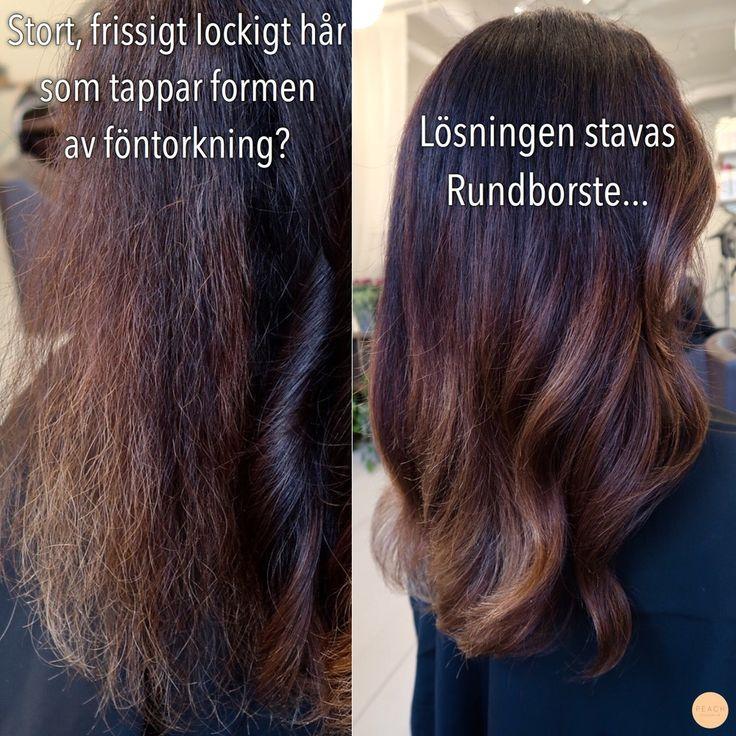 Hur man kan föna ett burrigt ostyrigt hår // How you can blowdry your hair to a calmer, smoother look.