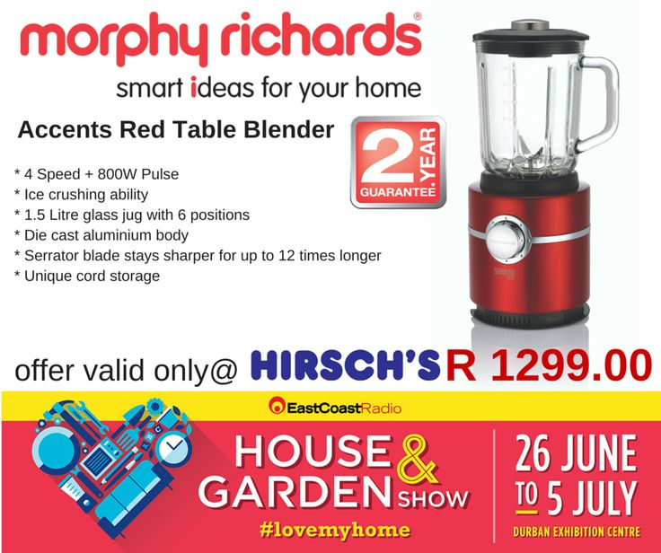Accents Red Table Blender