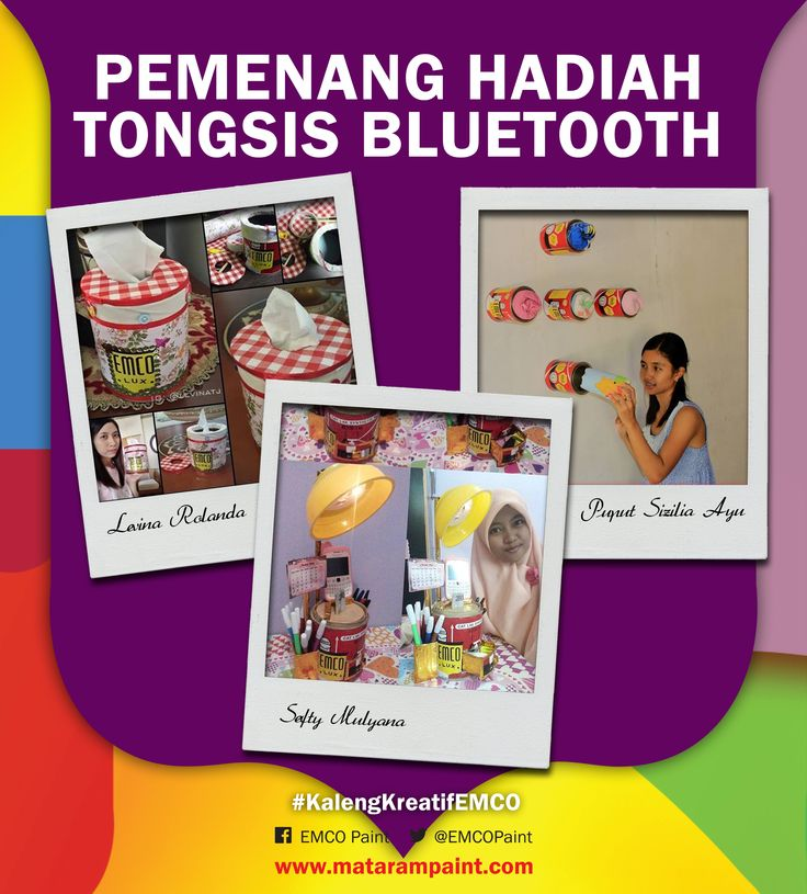 Berikut adalah 3 pemenang tongsis bluetooth #4  1. Sefty Mulyana - Tangerang 2. Levina Rolanda Tija - Surabaya 3. Puput Sizilya Ayu Novita Sari - Sragen