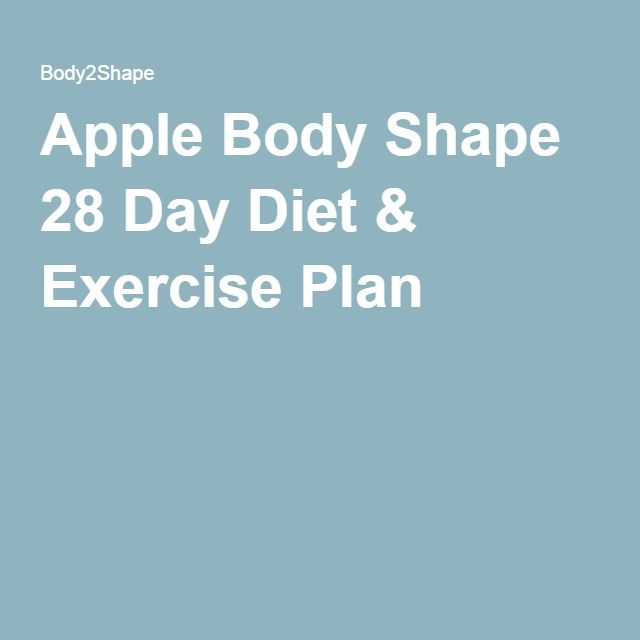 Apple Body Shape 28 Day Diet & Exercise Plan