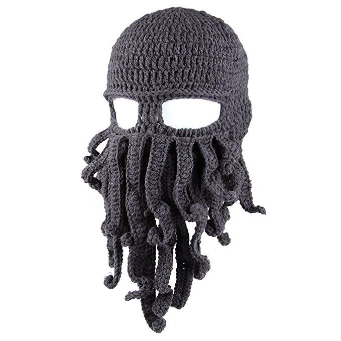 Amurleopard Unisex Barbarian Knit Beanie Octopus at Amazon Women's Clothing store: