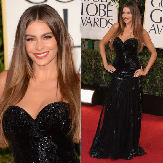 Sofia Vergara star stayed true to her bombshell aesthetic in a curve-hugging black gown