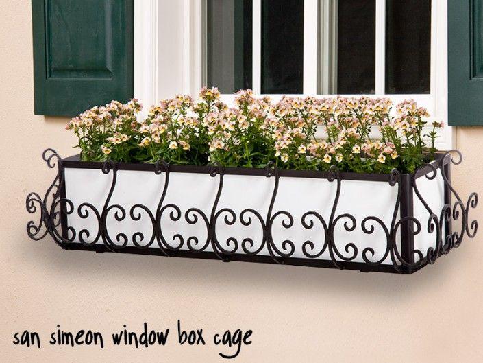 San Simeon Window Box Cage (Square Design) - Black w/ Liner Option