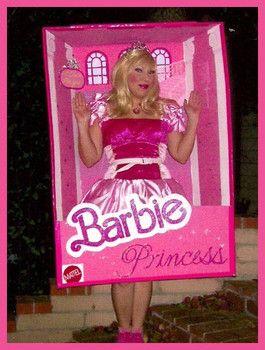 How to make a barbie box costume | Cute | Homemade ...