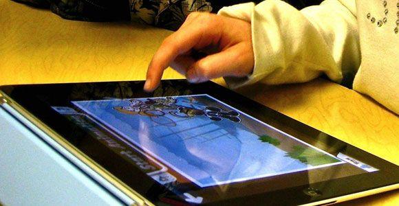 Using iPads to teach vocabulary.