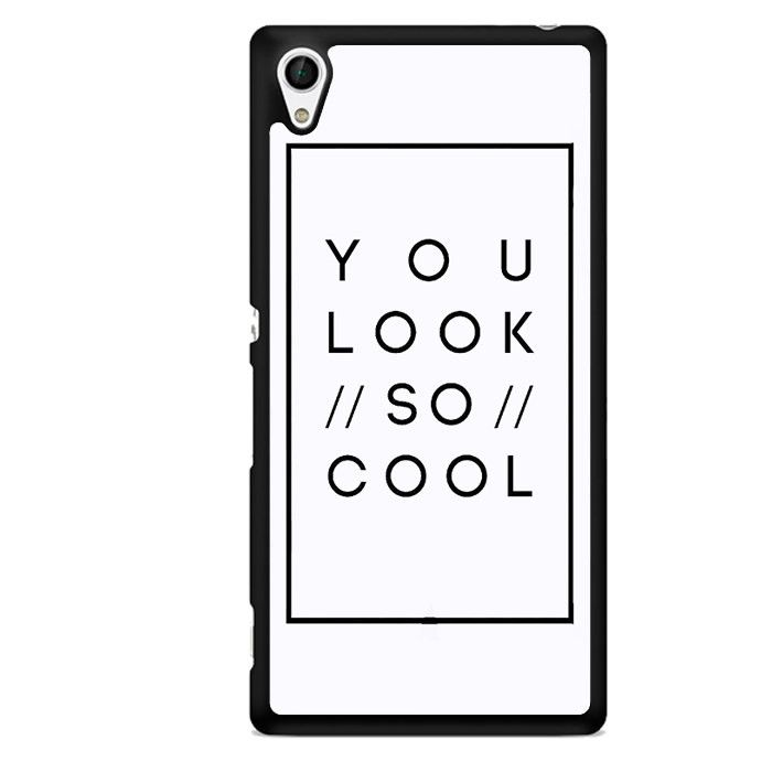The 1975 You Look So Cool TATUM-10606 Sony Phonecase Cover For Xperia Z1, Xperia Z2, Xperia Z3, Xperia Z4, Xperia Z5