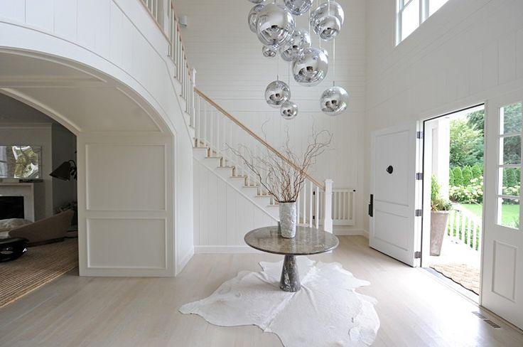 A playful, modern take on the Hamptons style entrance