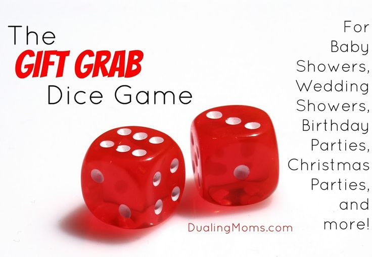 The gift grab dice game is a fast-paced party game that's perfect for family get-togethers and celebrations. Ask everyone to bring one wrapped gift.