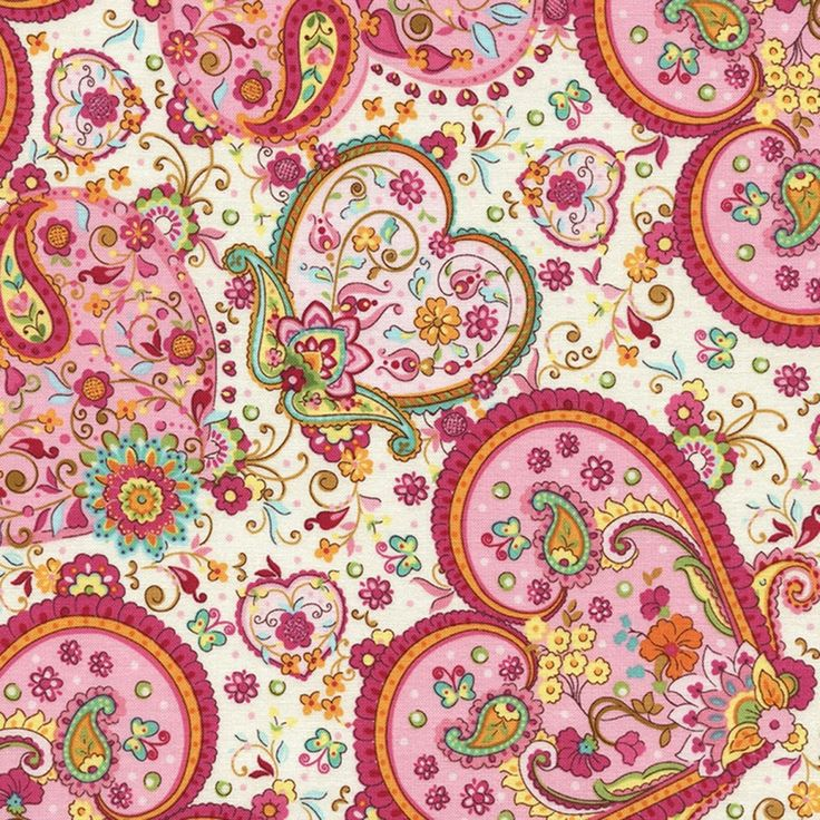 Pink Floral Hearts on Cream Timeless Treasures Valentine fabric ebay sew4fun1498