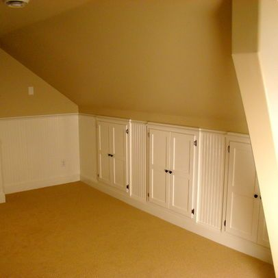 attic conversion / storage on slanted walls