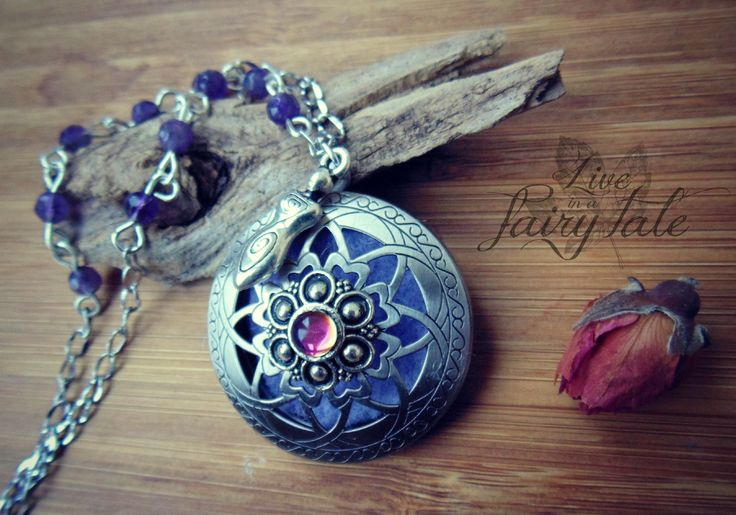 """Aromatherapy diffusers by """"Live in a fairy tale"""" with amethyst and Czechoslovak glass  #aromaterapic #essentialoil #paganjewelry #witchjewelry #wiccajewelry #aromatherapydiffusers #fantasyjewelry #fairyjewelry #amethystjewelry"""