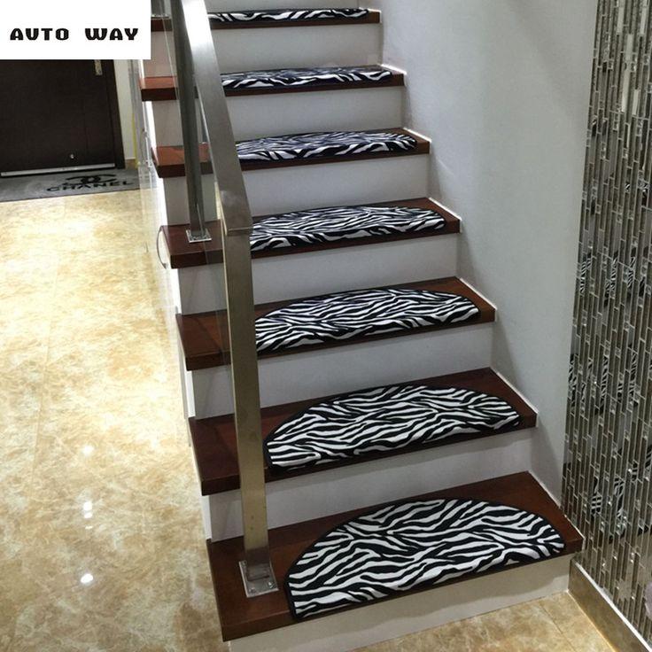 Zebra pattern Stair carpets Stairs mat Stepping rug Self-adhesive lattice floor mat Self-priming staircase carpet free shipping #Affiliate