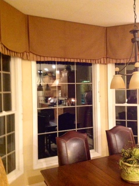 Kitchen Bay Window Valance Window Valances Pinterest