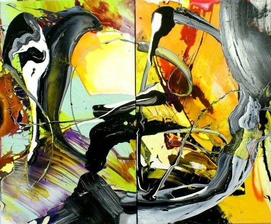Cristina Popovici - Crescendo (2014) - mixed media on canvas