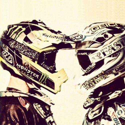 I need a picture like this with Ryan, but with me not in a helmet and gear on because I suck at riding dirtbikes