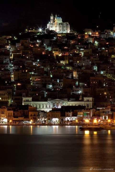 Beautiful Ermoupolis, Syros Island, Greece