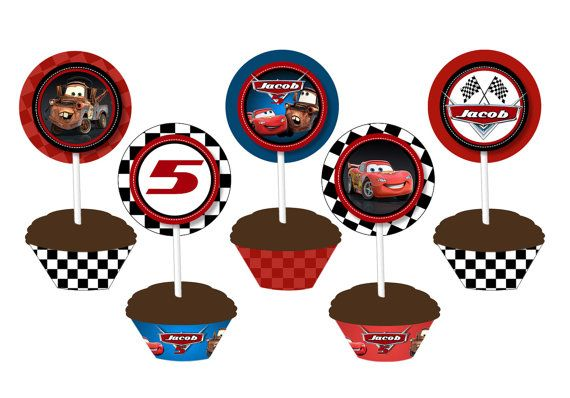 Disney CARS Cupcake Wrappers  Cars Favor by ThePrintShoppeOnEtsy, $7.00