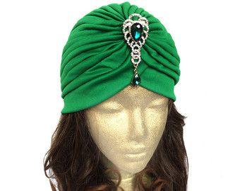 Turban Hat Head Wrap Stretch Turban Fashion Turban by curtainroad