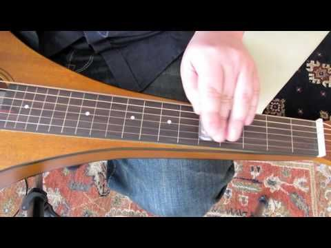 Beginning Playing Blues on Weissenborn Lap Slide Guitar  (Open D Tuning) by Dannys Guitar Channel