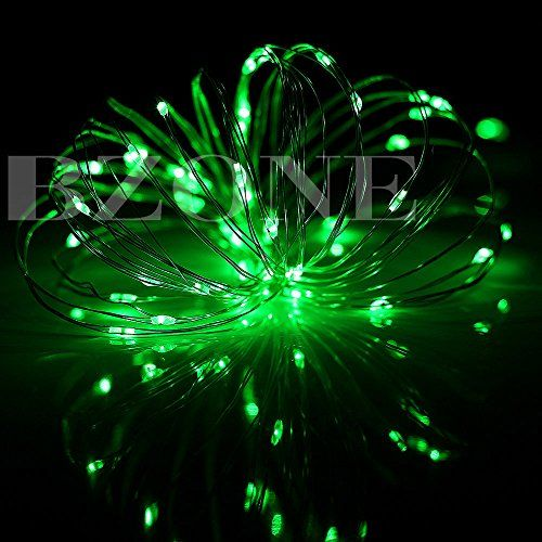 BZONE Green Color 5 Meters 50 Micro LEDs Outdoor Christmas Rope Lights String Lights Solar Powered LED Rope Light Fairy Lights >>> Details can be found by clicking on the image.