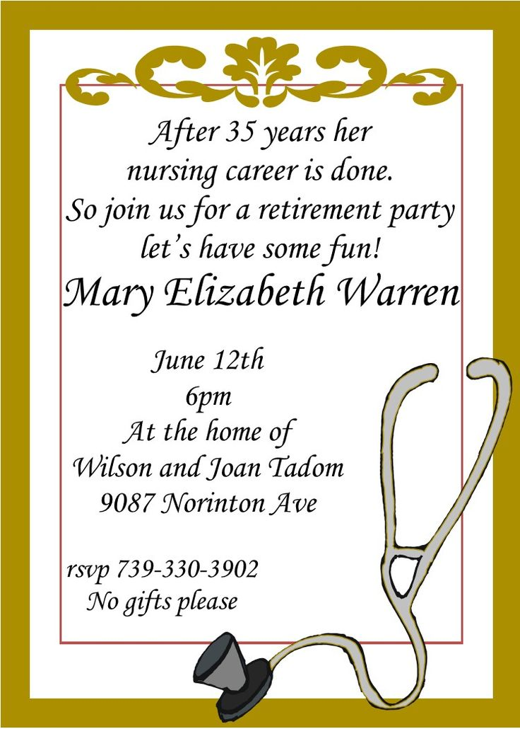 96 best images about retirement invitations on Pinterest ...