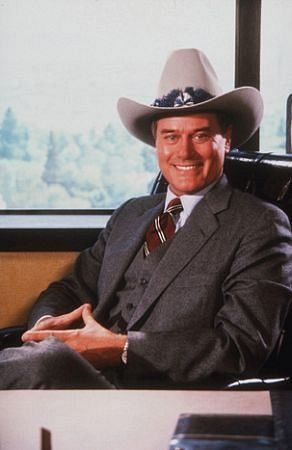 Larry Hagman as J.R. Ewing in Dallas.