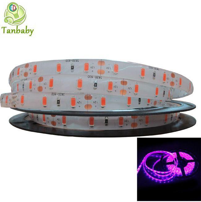 Tanbaby Led Розовый цвет полосы света 5630 (5730) DC12V 5 М светодиодные полосы гибкий водонепроницаемый украшения свет крытый и на открытом воздухе