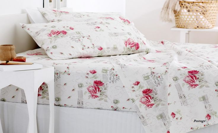 Upto 50% Off Printed Viva 175 GSM Cotton Flannelette Sheet Set by House of Sheffield