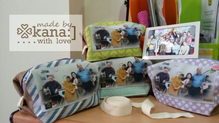 Boxy pouch with panel for teachers by kana