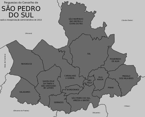 Freguesias do concelho de São Pedro do Sul.