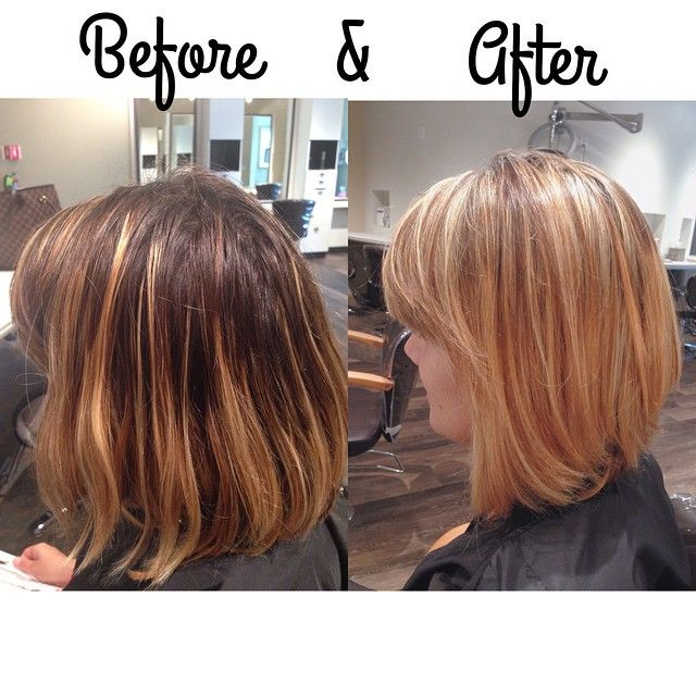 A beautiful highlight and blow dry by Kamen at our new Dulles location! #highlights #blonde #contrast #dulles #nova #virginia #womenshair #womensfashion #beauty #bob #beforeandafter