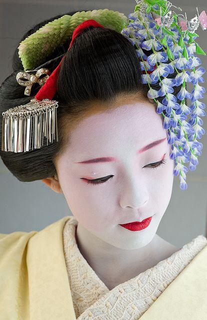 Takahina With Fuji Kanzashi Japan Mennesker Fra Hele
