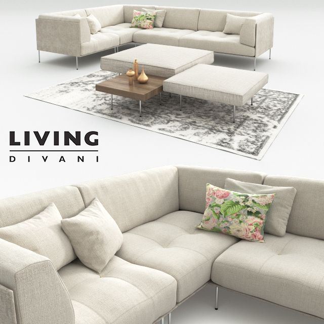 Rod and Upland by Living Divani 3D model Divani