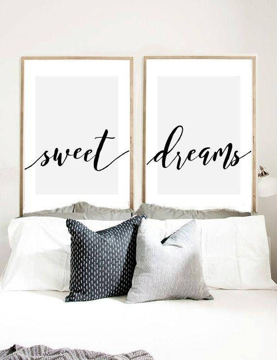 Attirant Sweet Dreams Print, Set Of 2 Prints, Calligraphy Print, Bedroom Wall Art,