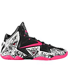 My custom-made LeBron 11 GRAFFITI iD Women's Basketball Shoe is almost done! #MYNIKEiDS