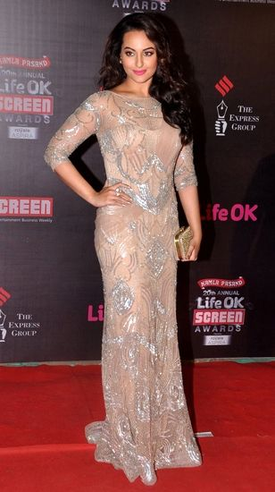 Sonakshi Sinha in Amit GT #screenawards2014 #indiandesigners
