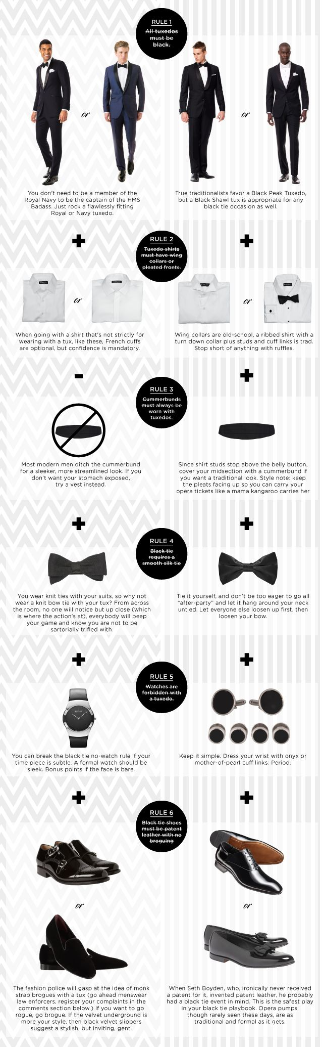 Looking to shake up your tux look and break a few black tie rules? Check out this guide that'll help you zig when everybody else zags.