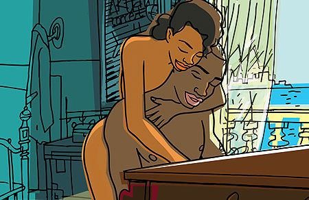 In the nude. from Chico and Rita. I love this film.