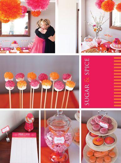 Sugar And Spice Baby Shower (Pink U0026 Orange  Tonya)