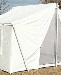 White Canvas Wall Tent 10′x14′
