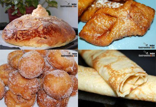 Dulces de Semana Santa: hornazo, pestiños, buñuelos, filloas.